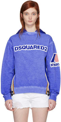 DSQUARED2 Blue K-Way Edition Cool Fit Hoodie