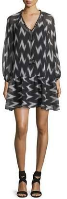 Rachel Zoe Carolina V-Neck Printed Chiffon Dress