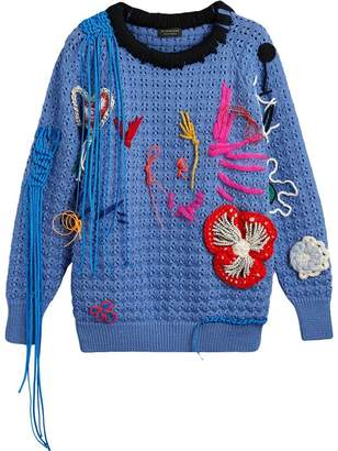 Burberry Embellished Wool Lace Sweater
