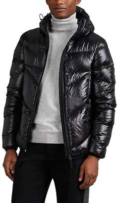Isaora Men's Down-Quilted Ripstop Hooded Puffer Jacket - Black