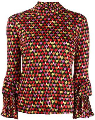 La DoubleJ ruffled cuff blouse