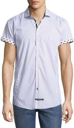 English Laundry Classic-Fit Polka-Dot Short-Sleeve Sport Shirt