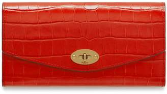 Mulberry Darley Wallet Hibiscus Red Croc Print