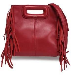 Maje Fringed Leather Shoulder Bag