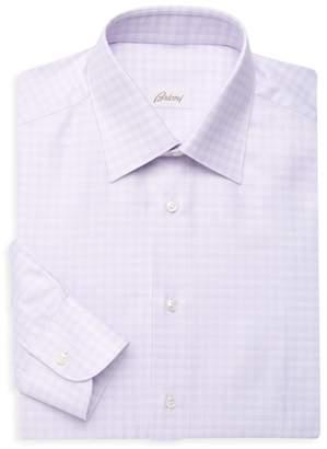 Brioni Classic-Fit Long Sleeve Check Shirt