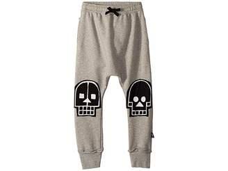 Nununu Skull Robot Patch Baggy Pants (Little Kids/Big Kids)