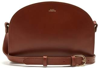 A.P.C. Half-moon leather cross-body bag