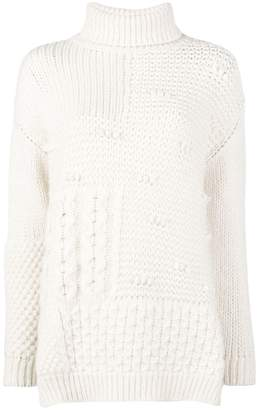 Simone Rocha patchwork roll neck sweater