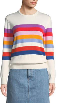 Kule The Day Trip Striped Crewneck Sweater