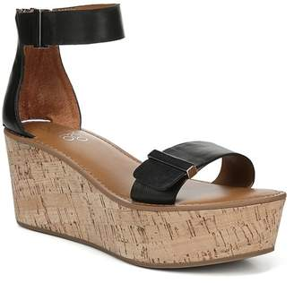 725db49ee728f Franco Sarto Black Platform Wedge Women's Sandals - ShopStyle