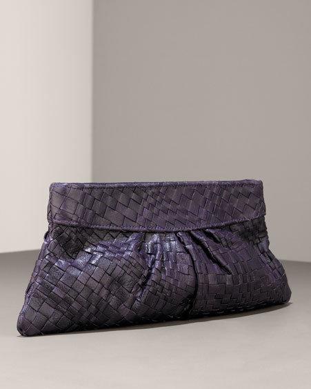 Lauren Merkin Louise Woven Leather Clutch