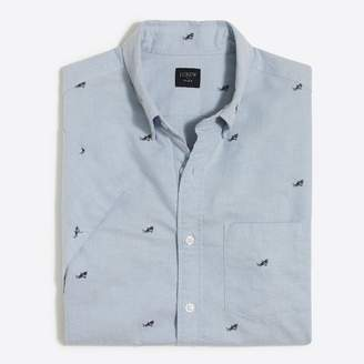 J.Crew Factory Short-sleeve printed oxford shirt