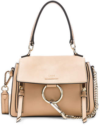 Chloé Mini Faye Calfskin & Suede Day Bag