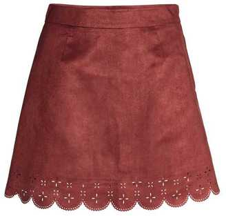 H&M Imitation Suede Skirt