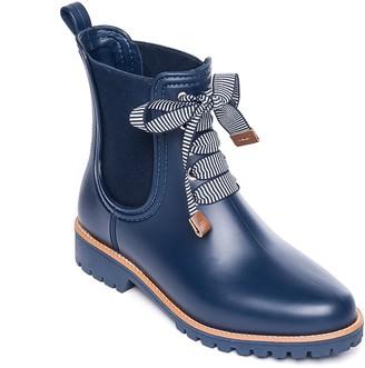 Bernardo Chelsea-Style Lace-Up Rubber Rain Boots - Zina