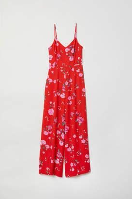 H&M Patterned Jumpsuit - Red
