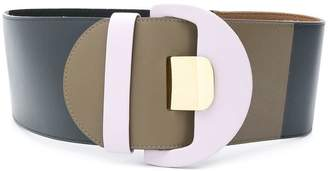 Marni colour block wide belt
