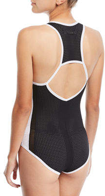 Blanc Noir Jersey Colorblock Bodysuit