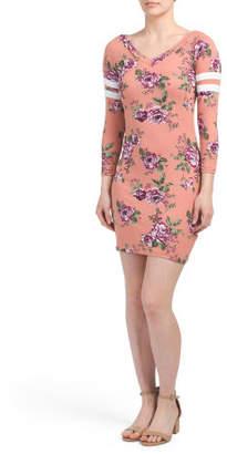 Juniors Printed Floral Dress