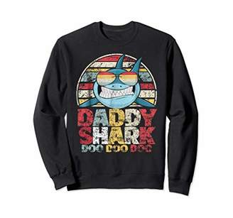 Retro Vintage Daddy Shark Sweater Gift For Father