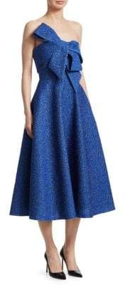 Lela Rose Strapless Bow-Front Dress