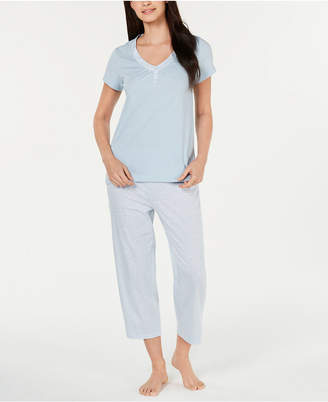 Charter Club Cotton Knit Pajama Set