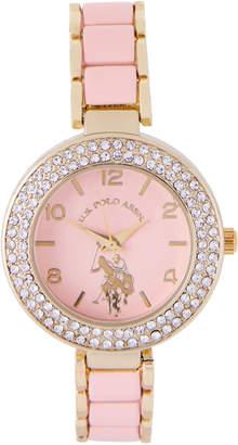 U.S. Polo Assn. USC40246 Gold-Tone & Pink Watch