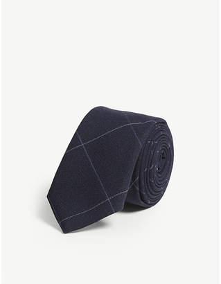 Eleventy Check wool tie