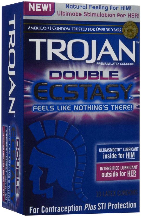 Trojan Condom Double Ecstasy, 10 pk