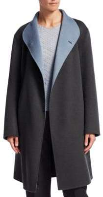 Emporio Armani Wool Wrap Coat