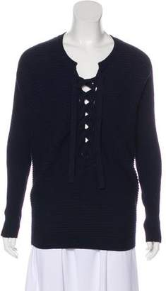 Designers Remix Charlotte Eskildsen Knit Lace-Up Sweater