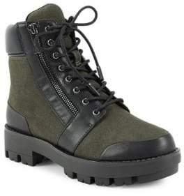 Halston H Millie Lace-Up Combat Boots