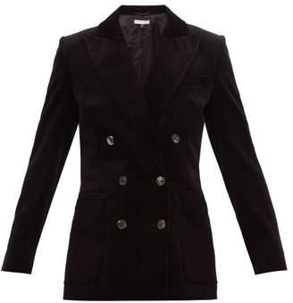 Bella Freud Bianca Double Breasted Cotton Corduroy Blazer - Womens - Black