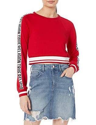 True Religion Women's Cropped Pullover Crew