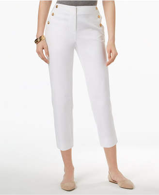Charter Club Sailor-Button Capri Pants