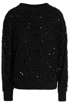 Alice + Olivia Helen Sequined Stretch-Knit Sweatshirt