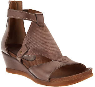As Is Miz Mooz Leather Wedge Sandals - Maisie $97.95 thestylecure.com
