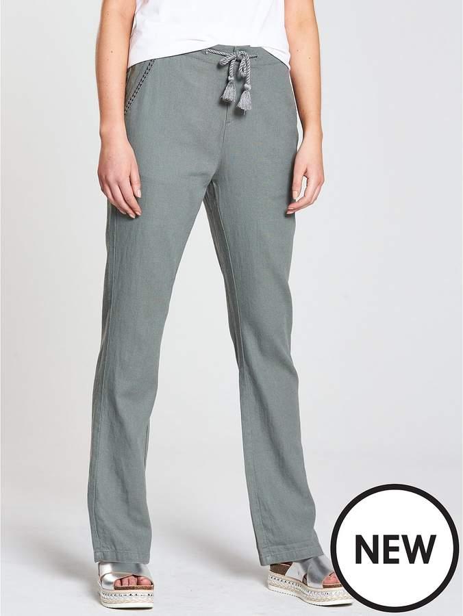 Short Linen Trouser - Khaki
