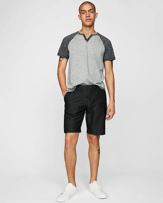 Express Classic Fit 10 Inch Textured Flat Front Shorts
