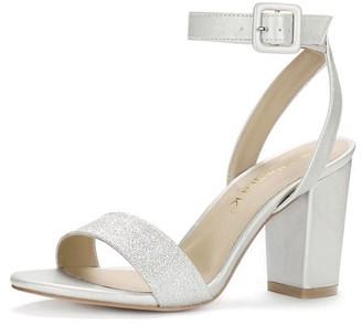 cc38f4c90e Unique Bargains Women's Slingback Ankle Strap High Heels Sandals