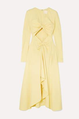 Dion Lee Embellished Cutout Cady Midi Dress - Yellow