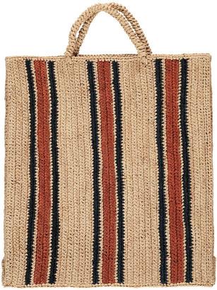 SOEUR Friday Striped Raffia Bag $168 thestylecure.com