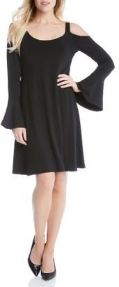Women's Karen Kane Cold Shoulder Bell Sleeve Dress $128 thestylecure.com
