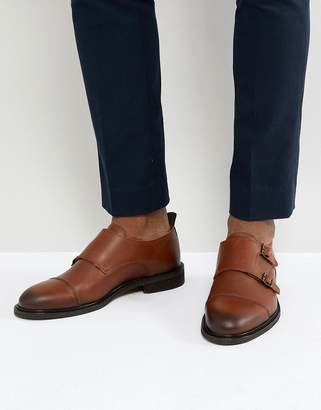 Selected Leather Double Monk Shoes
