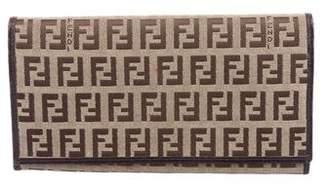 Fendi Zucchino Flap Wallet