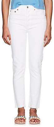 RE/DONE Women's High Rise Ankle Crop Jeans - White