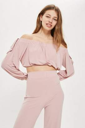 Love **Bardot Tie Sleeve Top