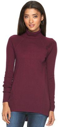 Women's Apt. 9® High-Low Turtleneck Sweater $40 thestylecure.com