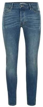 Topman Mens Vintage Blue Wash Stretch Skinny Jeans