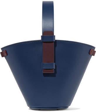 Nico Giani - Nelia Mini Two-tone Leather Bucket Bag - Navy